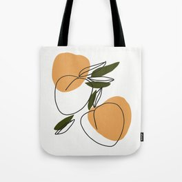 The peaches - Modern abstract art illustration Tote Bag