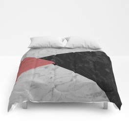 MARBLE TRIANGULES Comforters