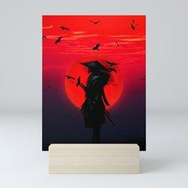 Samurai Blood Moon Mini Art Print