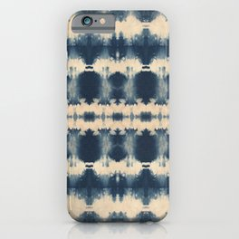 Indigo Beetle Shibori iPhone Case