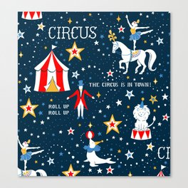 Retro Circus Canvas Print