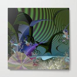 Night among fantasy plants Metal Print