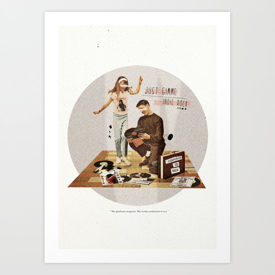 Just Gimme Indie Rock | Collage Art Print
