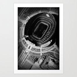 Broncos Stadium by Air Art Print