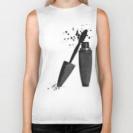 Black mascara fashion illustration Biker Tank