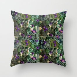 Violets in my head Throw Pillow