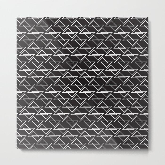 Zigzag Metal Print