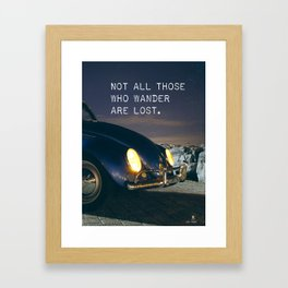 Great quote for travellers Framed Art Print