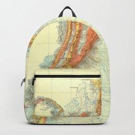 Vintage Geological Map of Columbia, Venezuela & Ecuador Backpack
