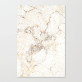 Marble Natural Stone Grey Veining Quartz Canvas Print