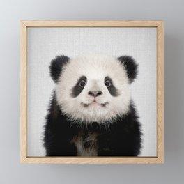 Panda Bear - Colorful Framed Mini Art Print