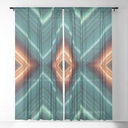 Cyberpunk Garden Sheer Curtain