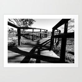 Black & White Path Art Print