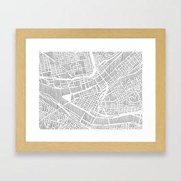pittsburgh city print Framed Art Print