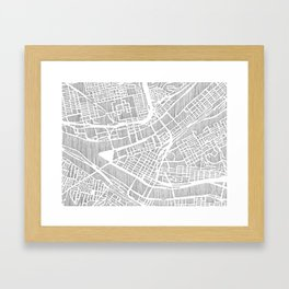 pittsburgh city print Framed Art Print