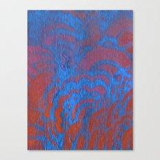 Drawing Meditation: Stencil 1 - Print 10 (blue) Canvas Print