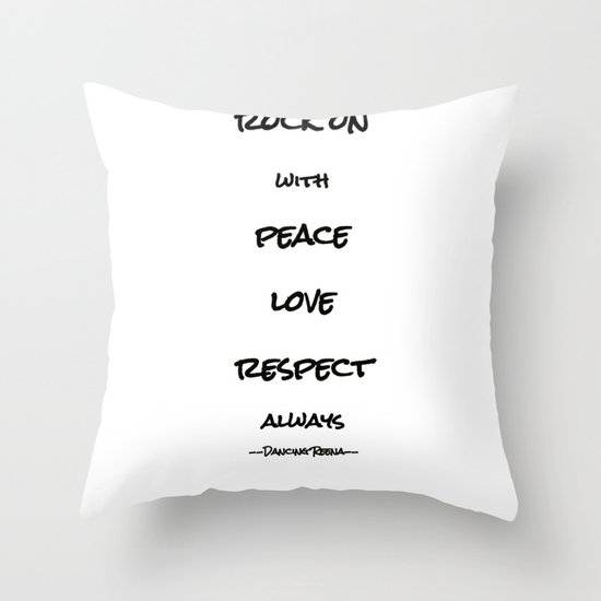 my life mantra Throw Pillow