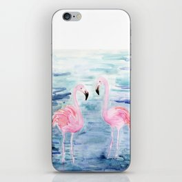 flamingo loves iPhone Skin