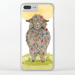 Flower Goat Clear iPhone Case