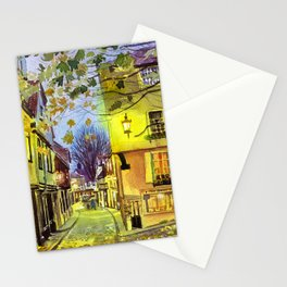 Elm Hill, Norwich, England Stationery Cards