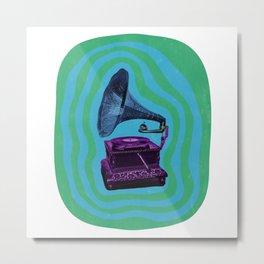 Psychedelic Gramophone Metal Print