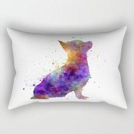 Chihuahua 01 in watercolor Rectangular Pillow