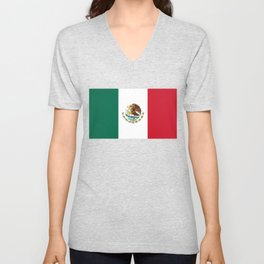 Flag of Mexico - Authentic Scale and Color (HD image) Unisex V-Neck