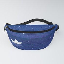 Zen sailing, ocean, stars Fanny Pack