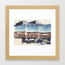 Somewhere in the Middle Framed Art Print