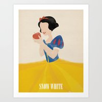 snow white Art Prints featuring Snow White by magicblood