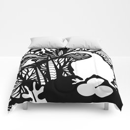 Two Birds in the Jungle Comforters