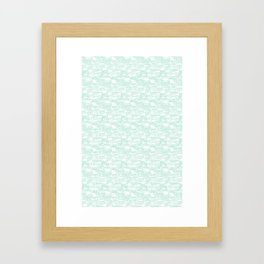 Delightful Domes - Mint Framed Art Print