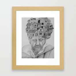 Making Hotels of Our Heads Framed Art Print