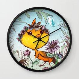 Ichabod's Daisies Wall Clock