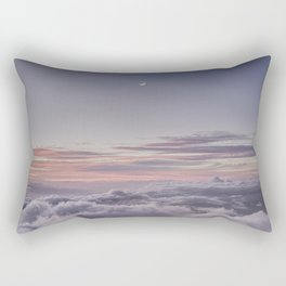 Sunset and Moon Rise Above the Clouds // Mount Haleakala, Maui Rectangular Pillow