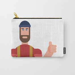 Encouraging Lumberjack Carry-All Pouch