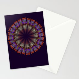 Floral mandala with tribal patterns in the petals Stationery Cards