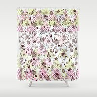 tattoos Shower Curtains featuring TATTOOS LOVE by Stylegrafico