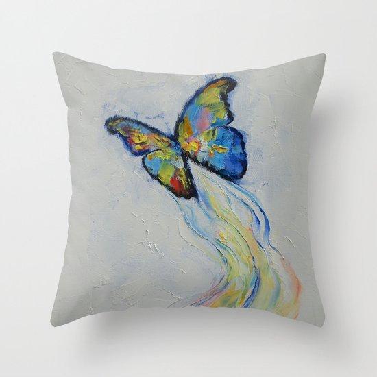 Opal Butterfly Throw Pillow