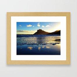 Sunset cloud mirror Framed Art Print