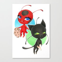 Miraculous Ladybug - Tikki and Plagg Canvas Print