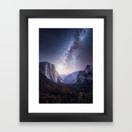 Yosemite Valley Milky Way Framed Art Print