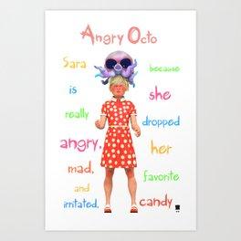 Angryocto - Sara's Candy Art Print
