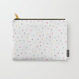 Adorable Pastel Coloured Dots Pattern - Polka dot Carry-All Pouch