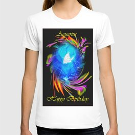 Zodiac sign Aquarius  Happy Birthday T-shirt