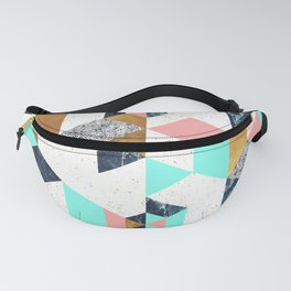 Mosaic geometric with textures Fanny Pack