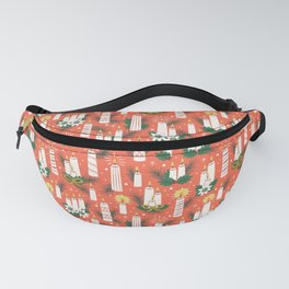 Vintage Christmas Candles Fanny Pack