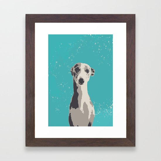 Greyhound sad art print by deanng