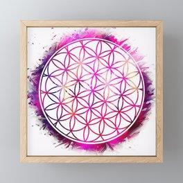 Flower of life Framed Mini Art Print
