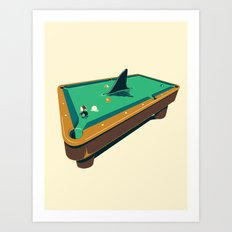 Pool shark Art Print